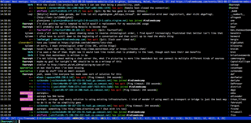 weechat-irc session